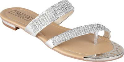 Truffle Collection Women Silver Flats