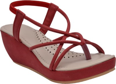 Sir Corbett Women Red Wedges