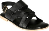 Shoe Bazar Men Black Sandals