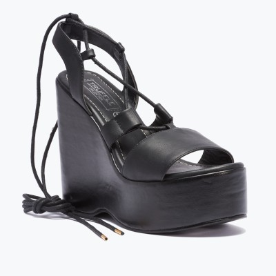 Truffle Collection Women Black Wedges