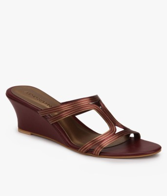 Addons Women Maroon Wedges at flipkart