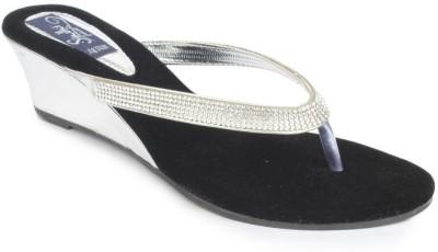 Sindhi Footwear Women Silver Wedges