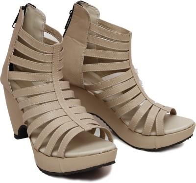 SSF Women Beige Heels