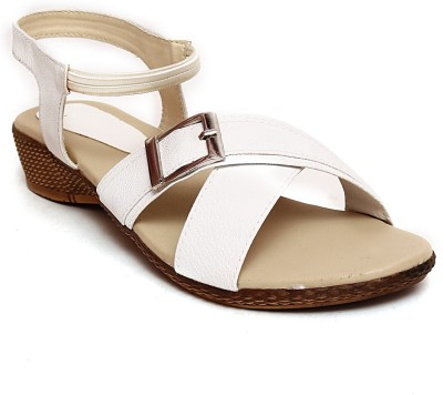 Zohra Collection Women White Wedges