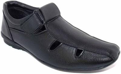 Chariot Men Black Sandals