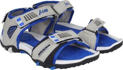Aero Men Black, Blue Sandals