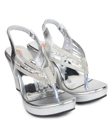 Digni Women Silver Wedges