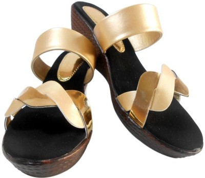 LILY Women Gold Wedges