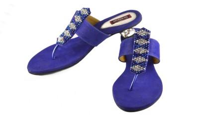Gressum Women Blue Heels