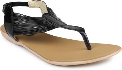Bonzer Women Black Flats