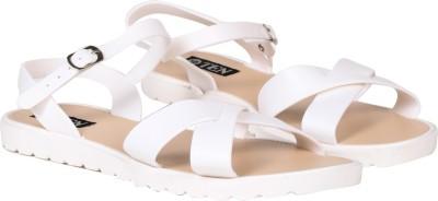 TEN Women White Flats
