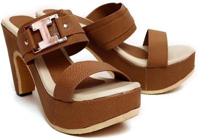 Vovina Women Brown Heels