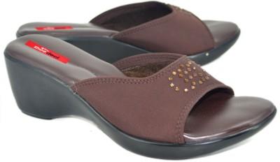 Shoedeal 2850 Brown Women Brown Wedges