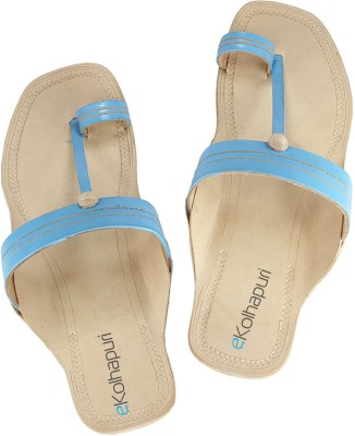 Ekolhapuri Women Blue Flats