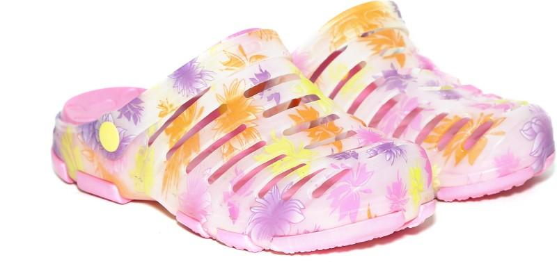Craze Shop Women Pink, Multicolor Clogs