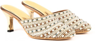Ka Fashion Girls Gold Sandals