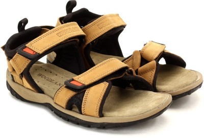 Woodland Men Tan Sandals