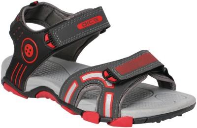Dice Men Grey, Red Sandals
