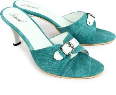 Starchi Women Green, White Heels