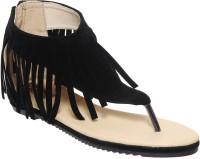 Flat n Heels Women Black Flats