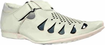 R M SHOPPERS Men White Sandals