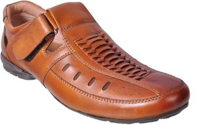 ALLEVIATER Men Tan Sandals
