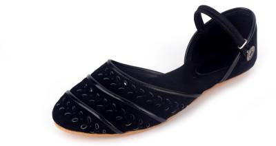 Supermine Girls Black Sandals