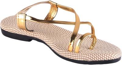 Footings Women Gold Flats