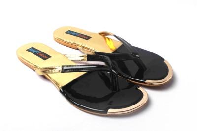 Kraft Cellar Black Gold Duo Metal Insert Women Black, Gold Flats