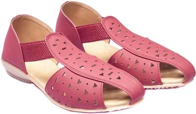 Foot Furnish Girls, Women Maroon, Beige Flats