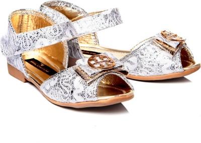 Trilokani Girls Silver Sports Sandals