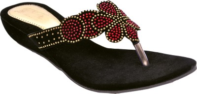 Womens Club Women Black Flats