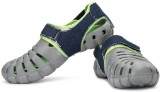 Globalite Men Grey Lime Denim Sandals