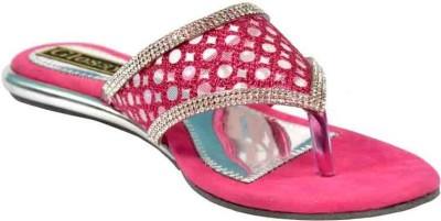 Glossy Women Pink Flats