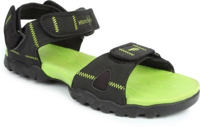 Mmojah Men Black, Green Sandals