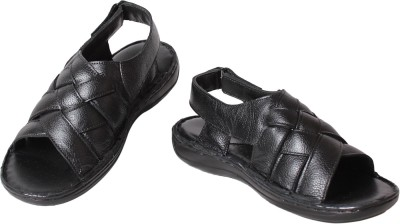 K2 Leather Men Black Sandals