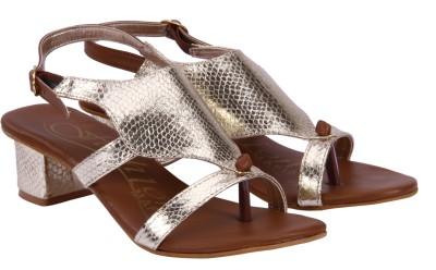 FASHION MAFIA Girls Gold Heels