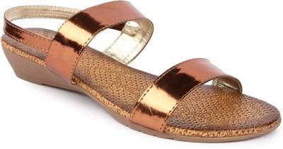 Jove Women Brown Flats