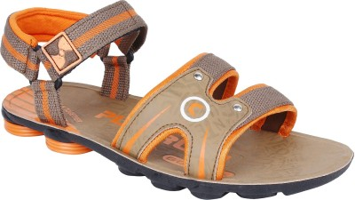 Earton Men Orange Sandals