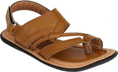 Azzaro Black Men Beige Sandals
