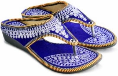 Nanak creation Women Blue, Gold Flats