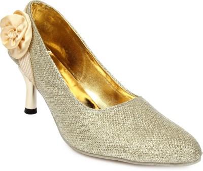 Cute Feet Women Gold Heels