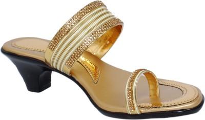 sandhills Women Gold Heels