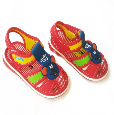 Stuff Jam Baby Boys, Baby Girls Red Sandals