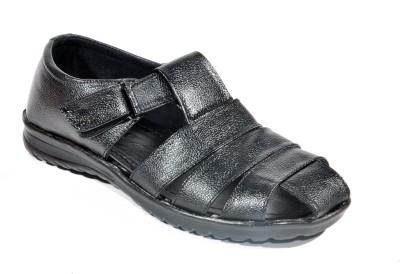 Kohinoor Cool Black Men Black Sandals
