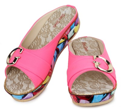 Star Style Women Pink Wedges