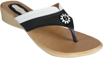 Recent Collection Women Black, White Wedges