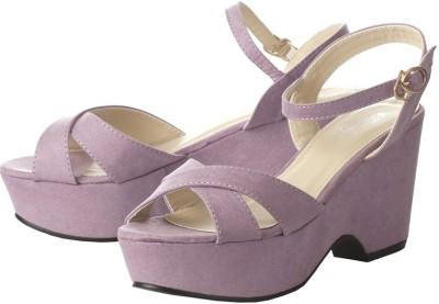 Vero Couture Women Purple Wedges