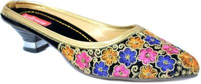 Indirang Women Multicolor Heels