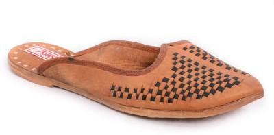 Mojari Women Natural, Brown Flats